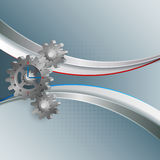 Abstract background for industry with 3d gears. Abstract background for industry,machinery with 3d gears which has attached a generic clock Royalty Free Stock Photo