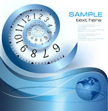 Abstract background with infinity time. Vector illustration Stock Photo