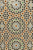 Abstract Background: Colorful Azulejo Moroccan Tile. This beautiful pattern of repeating circles, diamonds and stars, made-up of flower, teardrop and sunburst royalty free stock image