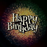 Abstract background with an inscription and congratulations on birthday Royalty Free Stock Photo
