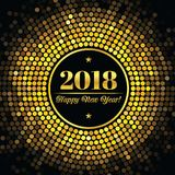 Abstract background with an inscription and congratulations on new 2018 Year.  Royalty Free Stock Photography