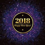 Abstract background with an inscription and congratulations on new 2018 Year.  stock illustration