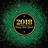 Abstract background with an inscription and congratulations on new 2018 Year.  vector illustration