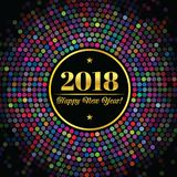 Abstract background with an inscription and congratulations on new 2018 Year Stock Photos
