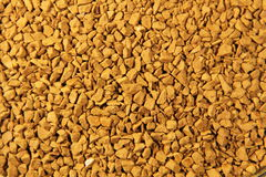 Abstract background of instant coffee granules Royalty Free Stock Photography