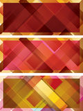 Abstract background, intersected rectangles. Collection Stock Images