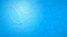 Abstract background of intersecting circles. With shadows in light blue colors vector illustration