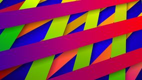Abstract background of interwoven stripes. Abstract background of interwoven colored stripes with shadows Vector Illustration