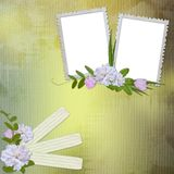 Abstract background for invitation and photo. In scrap-booking style Stock Photography