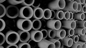 Abstract background with Iron pipes. 3d rendering Royalty Free Stock Photography