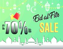 Abstract background for islamic greeting eid mubarak. Translation : blessed festival. ready to print on sticker, banner, poster, etc. easy to modify Stock Photos