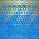 Abstract background with islamic ornament, arabic geometric texture. Golden lined tiled motif. Abstract background with islamic ornament, arabic geometric Stock Images