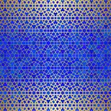 Abstract background with islamic ornament, arabic geometric texture. Golden lined tiled motif. Abstract background with islamic ornament, arabic geometric Royalty Free Stock Images
