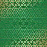 Abstract background with islamic ornament, arabic geometric texture. Golden lined tiled motif. Abstract background with islamic ornament, arabic geometric Stock Photos