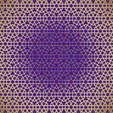 Abstract background with islamic ornament, arabic geometric texture. Golden lined tiled motif. Abstract background with islamic ornament, arabic geometric vector illustration