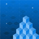 Abstract background with isometric cubes Stock Photo