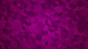 Abstract background of isometric cubes. In purple colors Royalty Free Stock Photo