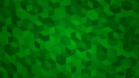 Abstract background of isometric cubes. In green colors Royalty Free Stock Photo