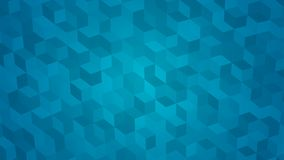 Abstract background of isometric cubes. In light blue colors Royalty Free Stock Photo
