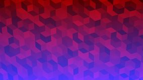 Abstract background of isometric cubes. In red and purple colors Royalty Free Stock Photos