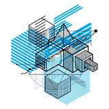 Abstract background with isometric lines, vector illustration. T Royalty Free Stock Photos