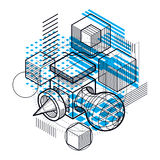 Abstract background with isometric lines, vector illustration. T Stock Photo