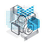 Abstract background with isometric lines, vector illustration. T Royalty Free Stock Photography