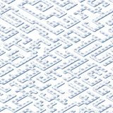 Abstract background with an isometric projection. Labyrinth of geometric shapes stock illustration