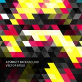 Abstract background in isometric style. Build of three-dimensional shapes. Stock Photos