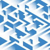 Abstract background in isometric style. A geometric maze. Texture of halfones vector illustration