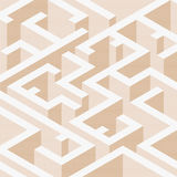 Abstract background in isometric style. A geometric maze. Texture of halfones royalty free illustration