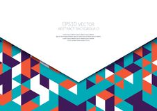 Abstract background in isometric style. The illusion of a three-dimensional image. A sheet of paper. White space for text vector illustration