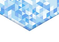 Abstract background in isometric style. The illusion of a three-dimensional image. A sheet of paper. White space for text stock illustration