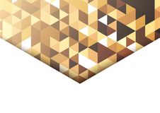 Abstract background in isometric style. The illusion of a three-dimensional image. A sheet of paper. White space for text Stock Photo