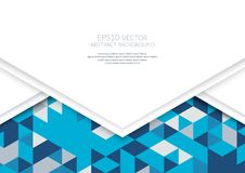 Abstract background in isometric style. The illusion of a three-dimensional image. A sheet of paper. White space for text royalty free illustration