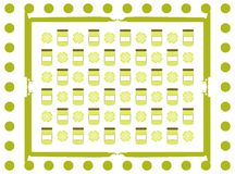 Abstract background with jars and fantasy. A nice background with lively colors that can be used in all projects about food and beverages Royalty Free Stock Photography