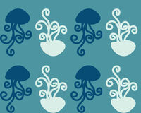 Abstract background jellyfish Royalty Free Stock Image