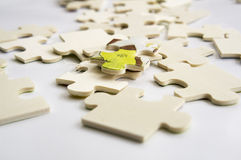 Abstract background jigsaw part decision teamwork concept Royalty Free Stock Images