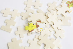 Abstract background jigsaw part decision teamwork concept Royalty Free Stock Photos