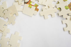 Abstract background jigsaw part decision teamwork concept Stock Image