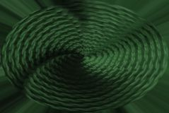 Abstract background, knitted fabric with a spiral in the center green. Stylish basis for design stock illustration