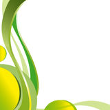 Abstract background, krausens, waves green Stock Photos