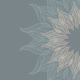 Abstract background with lacy flower Royalty Free Stock Images