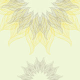 Abstract background with lacy flower. Vector illustration Stock Photography