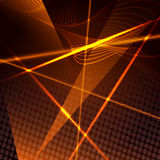 Abstract background with laser beams. Abstract geometrical background with swirls and beams against dark industrial background Royalty Free Stock Photography