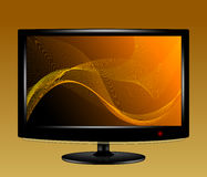 Abstract background on LCD monitor Royalty Free Stock Images