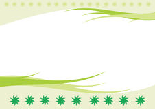 Abstract background with leaf. Abstract green background with leaf and decoration vector illustration