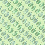 Abstract background with leaves. Abstract floral seamless pattern with colored leaves for design of card, web, fabric royalty free illustration