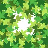Abstract background with leaves of maple. Vector illustration Royalty Free Stock Image