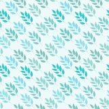 Abstract background with leaves. Abstract seamless pattern with leaves of the tree royalty free illustration